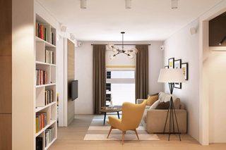 66㎡北欧风公寓客厅装修效果图