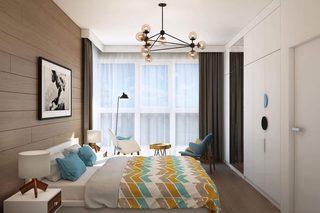 66㎡北欧风公寓卧室装修效果图