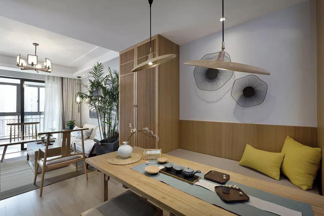 96平米新中式餐厅装修效果图