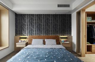 120平米简约风格卧室装修效果图
