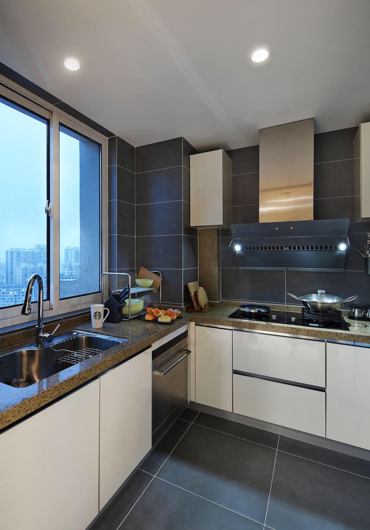 120平米简约风格厨房装修效果图
