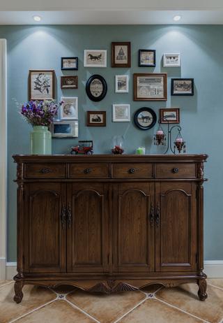 大户型经典美式风格装修玄关柜设计图