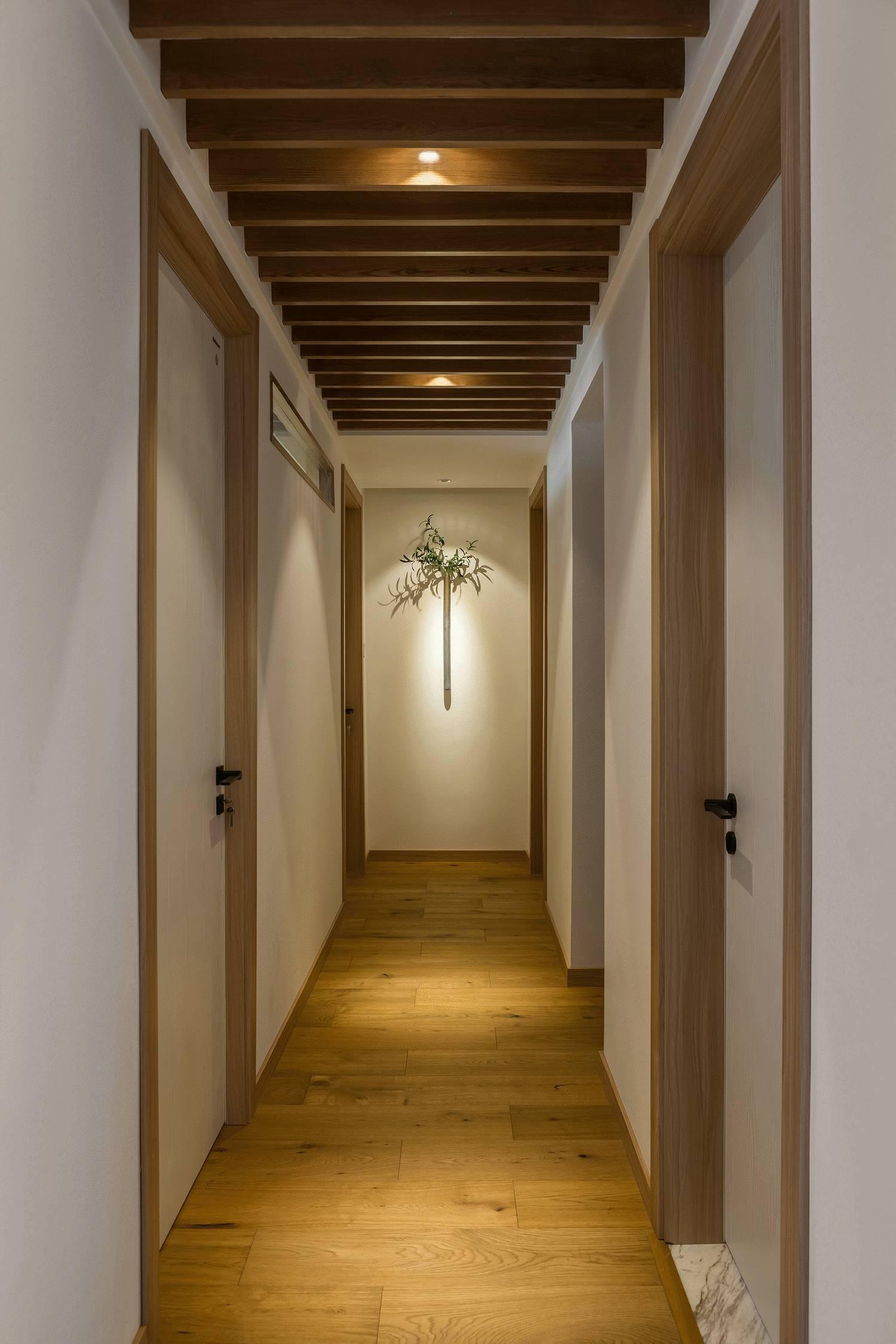 极简日式风格二居走廊装修效果图