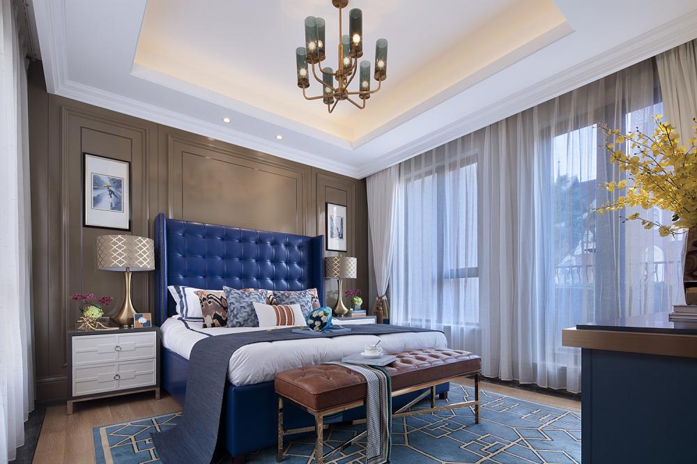 现代奢华别墅样板间卧室装修效果图
