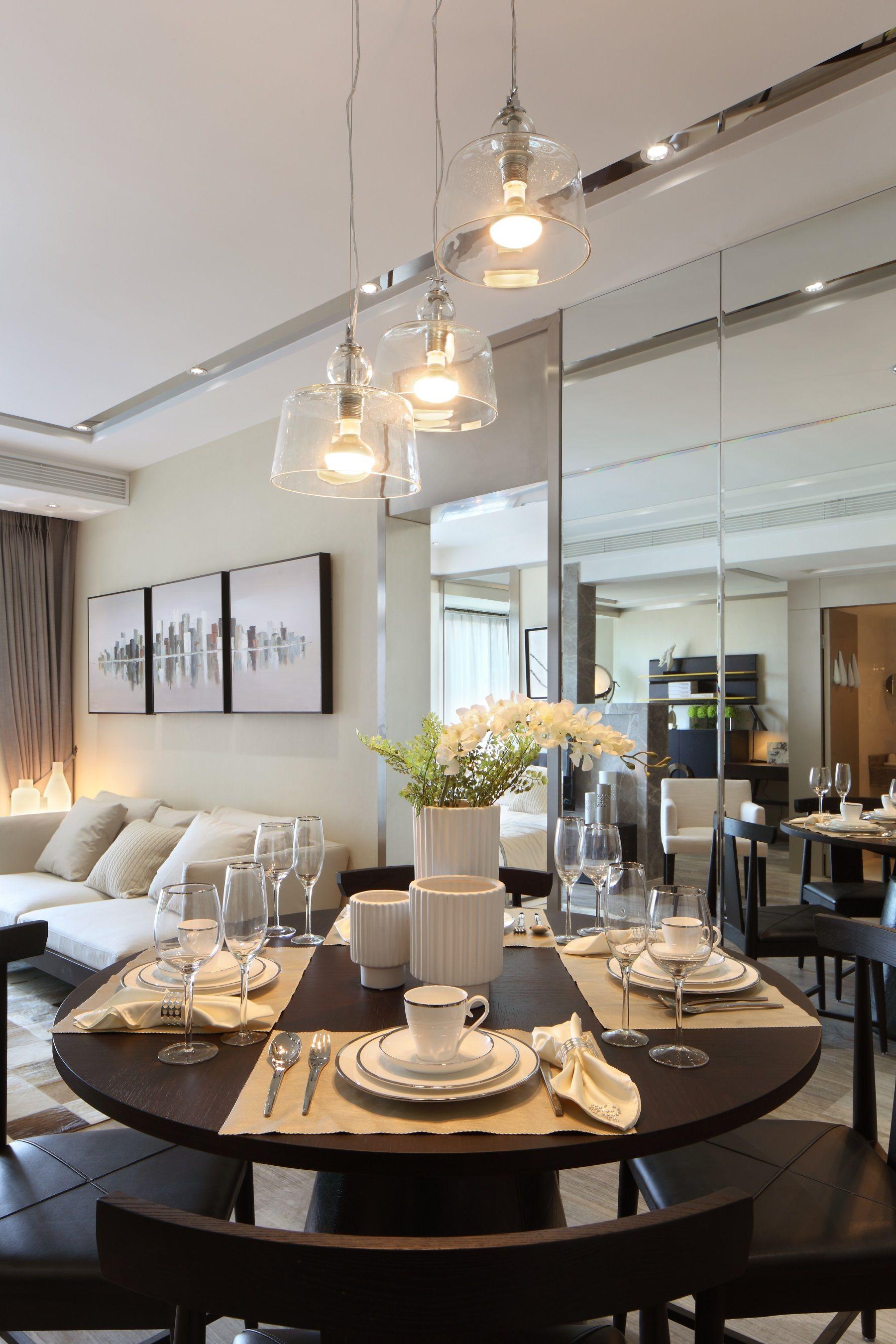 65㎡现代一居室餐厅装修效果图