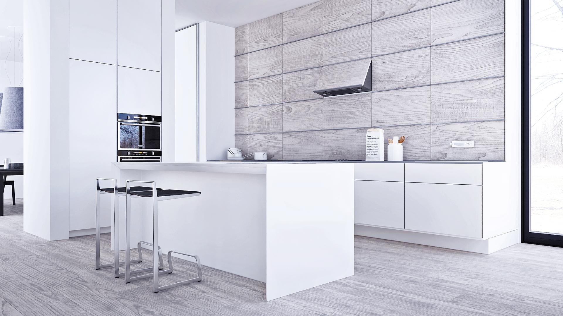 大户型极简风格厨房装修效果图