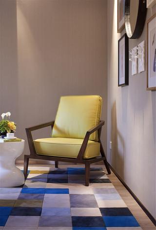 现代轻奢样板间装修黄色沙发椅设计