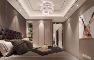 现代轻奢样板间卧室装修效果图