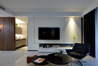 200平现代风格电视背景墙装修效果图