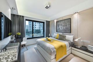 110平现代风格卧室装修效果图