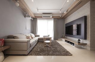 100平米混搭风格客厅装修效果图