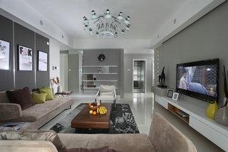 150㎡現代簡約客廳裝修效果圖