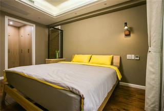 原木现代风格卧室装修效果图