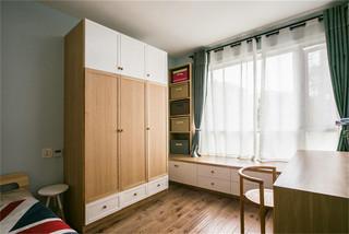 原木现代风格儿童房装修效果图