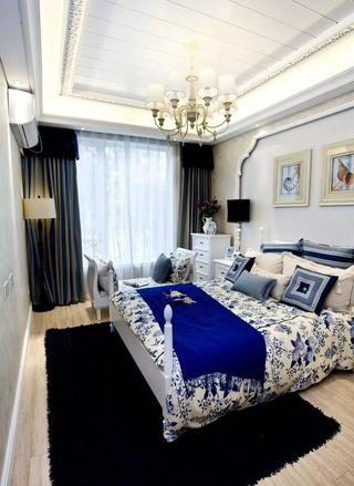 三居室地中海风格卧室装修效果图