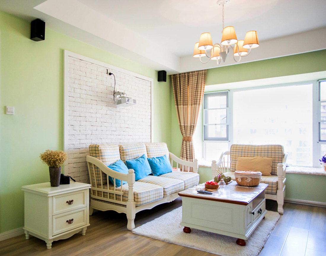 二居室田园风格客厅装修效果图