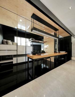 现代风格二居吧台装修效果图