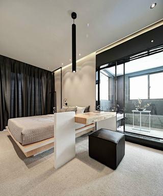 现代风格二居卧室装修效果图