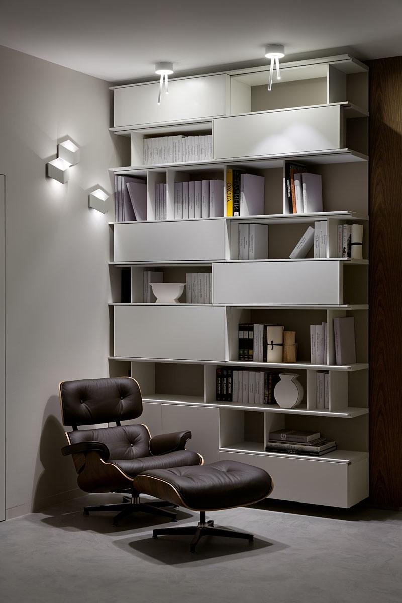 时尚现代公寓书架装修效果图