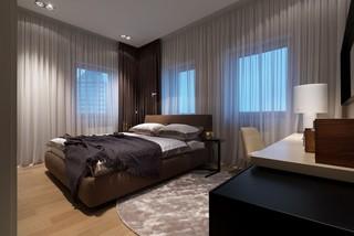 时尚现代公寓卧室装修效果图