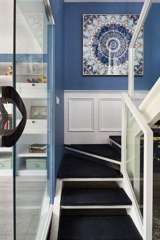 大户型现代美式楼梯装修效果图