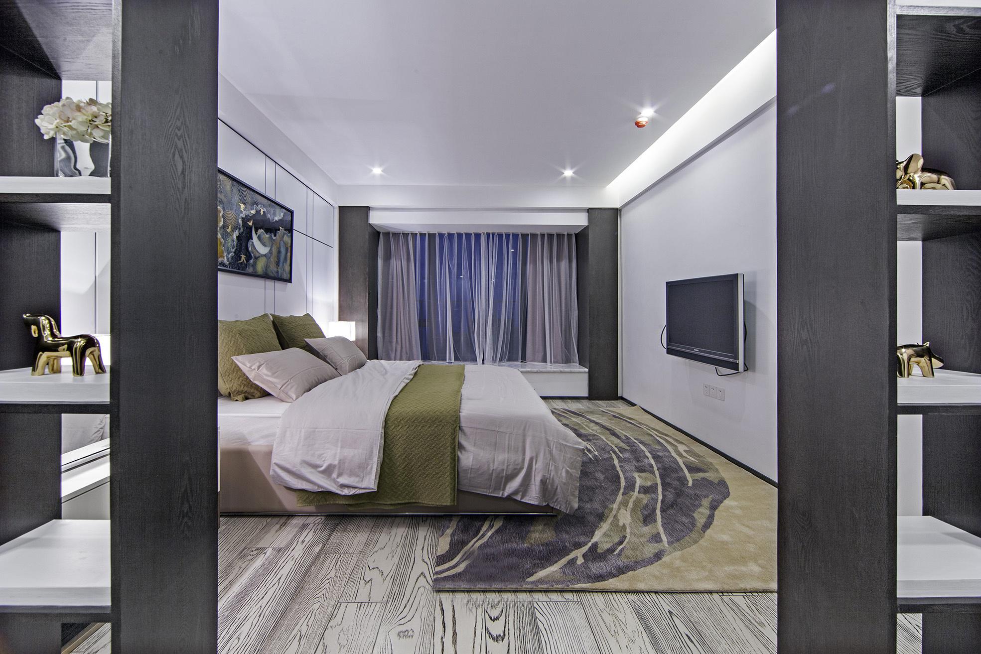 136㎡现代简约风格卧室装修效果图