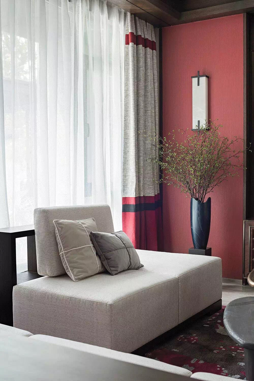 新中式风格别墅装修窗帘设计图