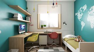 小户型二居室公寓儿童房装修效果图