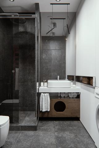 现代简约风格公寓卫生间装修设计图