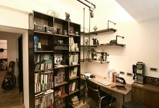 二居室工业风格书房装修效果图