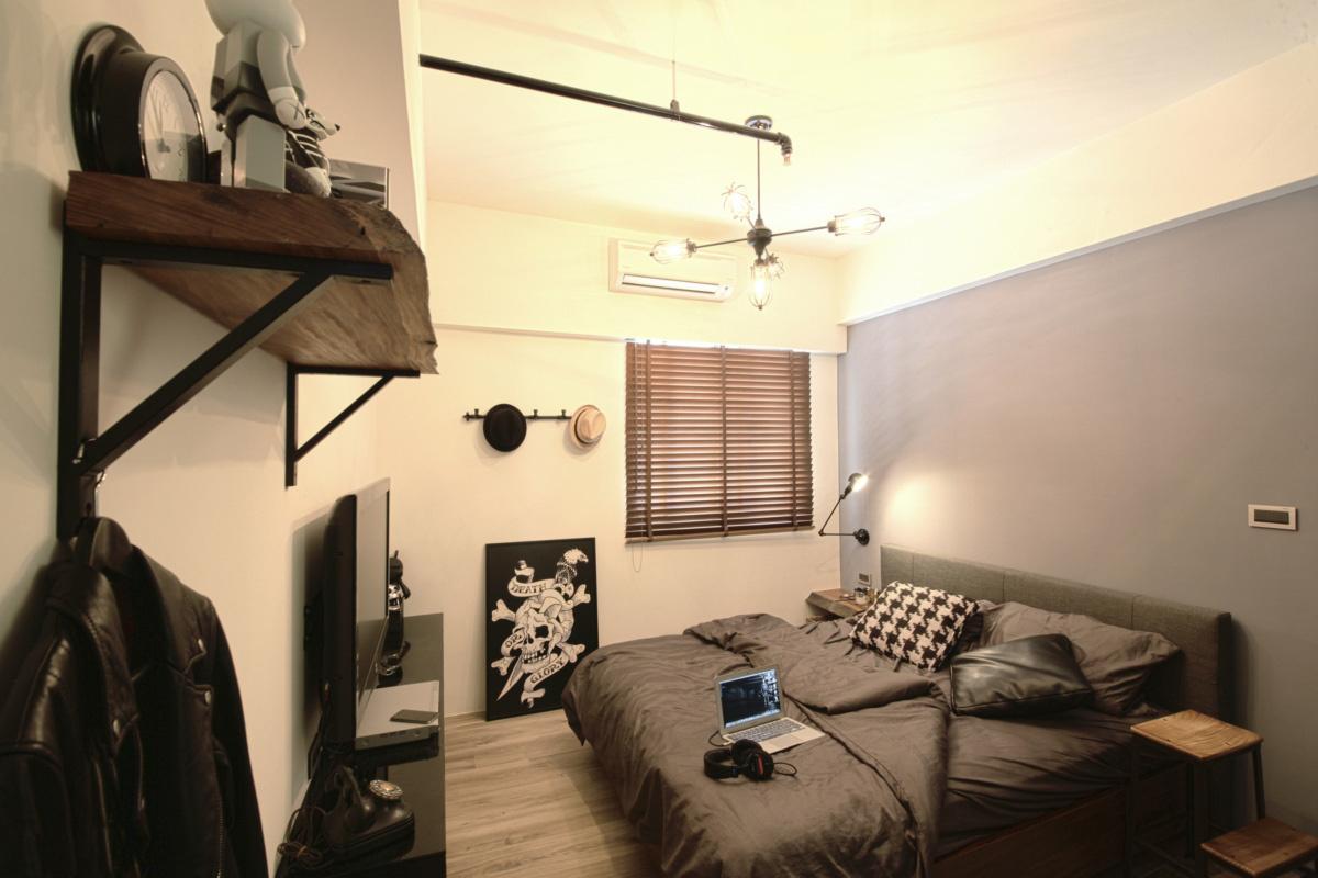 二居室工业风格卧室装修效果图