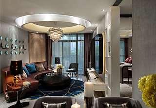 时尚现代样板房客厅装修效果图