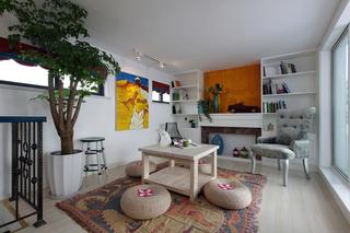 混搭风格二居书房装修效果图