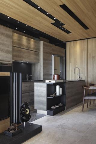 92平米现代混搭厨房装修效果图