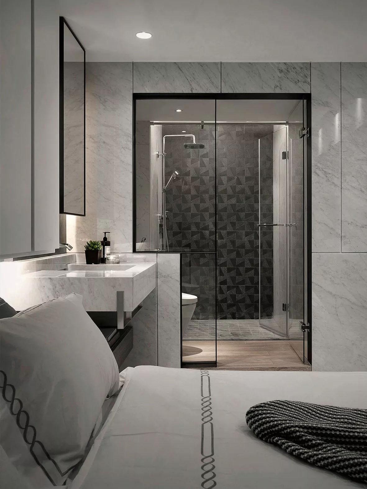 现代风格卧室卫生间装修效果图