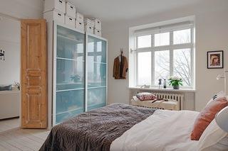 118平米白色公寓卧室衣柜装修效果图