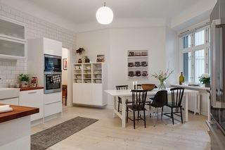 118平米白色公寓餐厅装修效果图