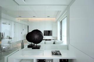 现代简约公寓书桌装修效果图