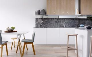 小户型简约北欧风公寓厨房装修效果图