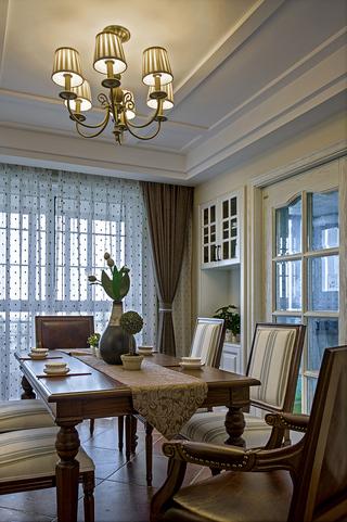 三居室美式风格餐厅装修设计图
