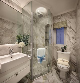 欧美风格三居室卫生间装修效果图