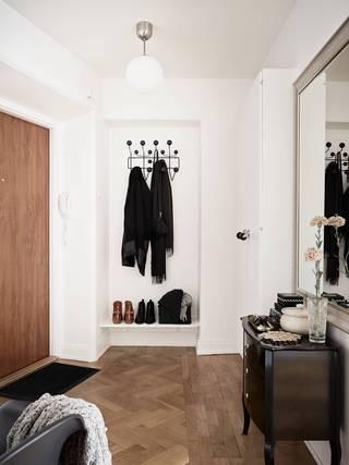 53平北欧风格公寓玄关装修效果图