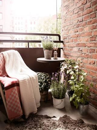 53平北欧风格公寓阳台装修效果图