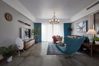 185平米混搭風格客廳裝修效果圖