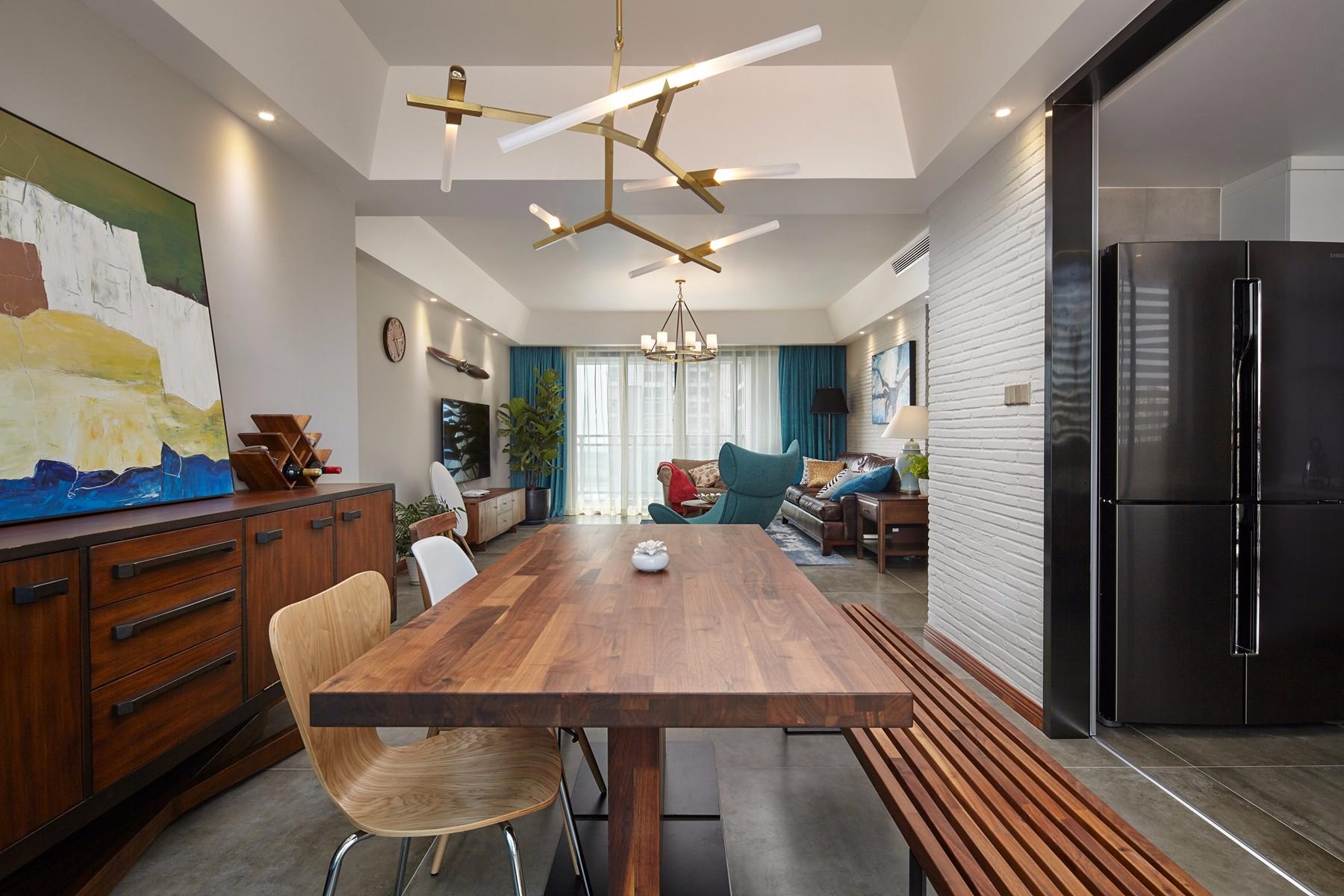 185平米混搭风格装修餐桌椅设计图