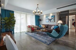 185平米混搭风格沙发背景墙装修效果图