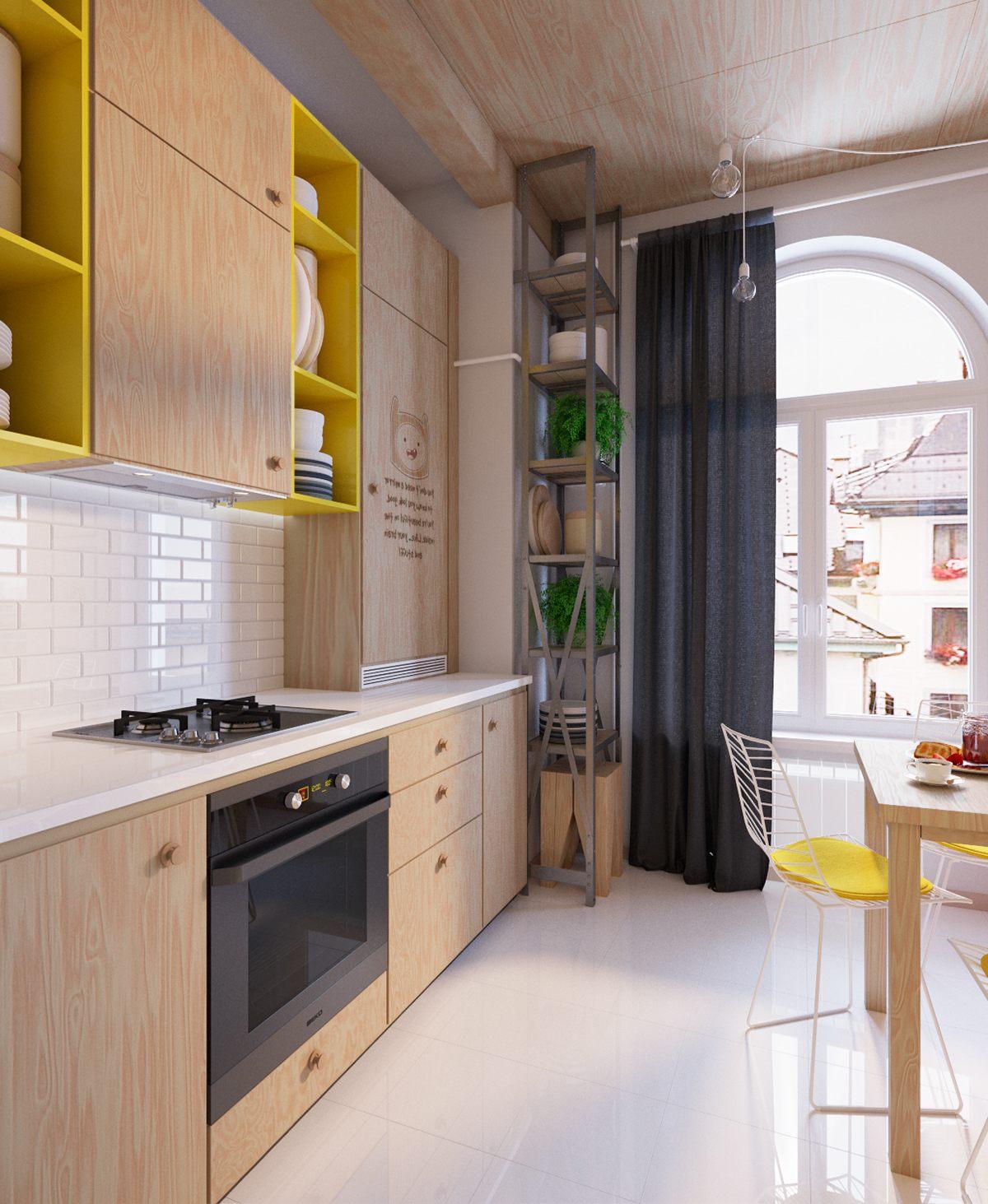 35㎡小户型公寓厨房装修效果图