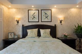 139㎡美式风格卧室背景墙装修效果图