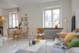 小户型白色北欧风公寓装修效果图