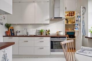 小户型白色北欧风公寓厨房装修效果图